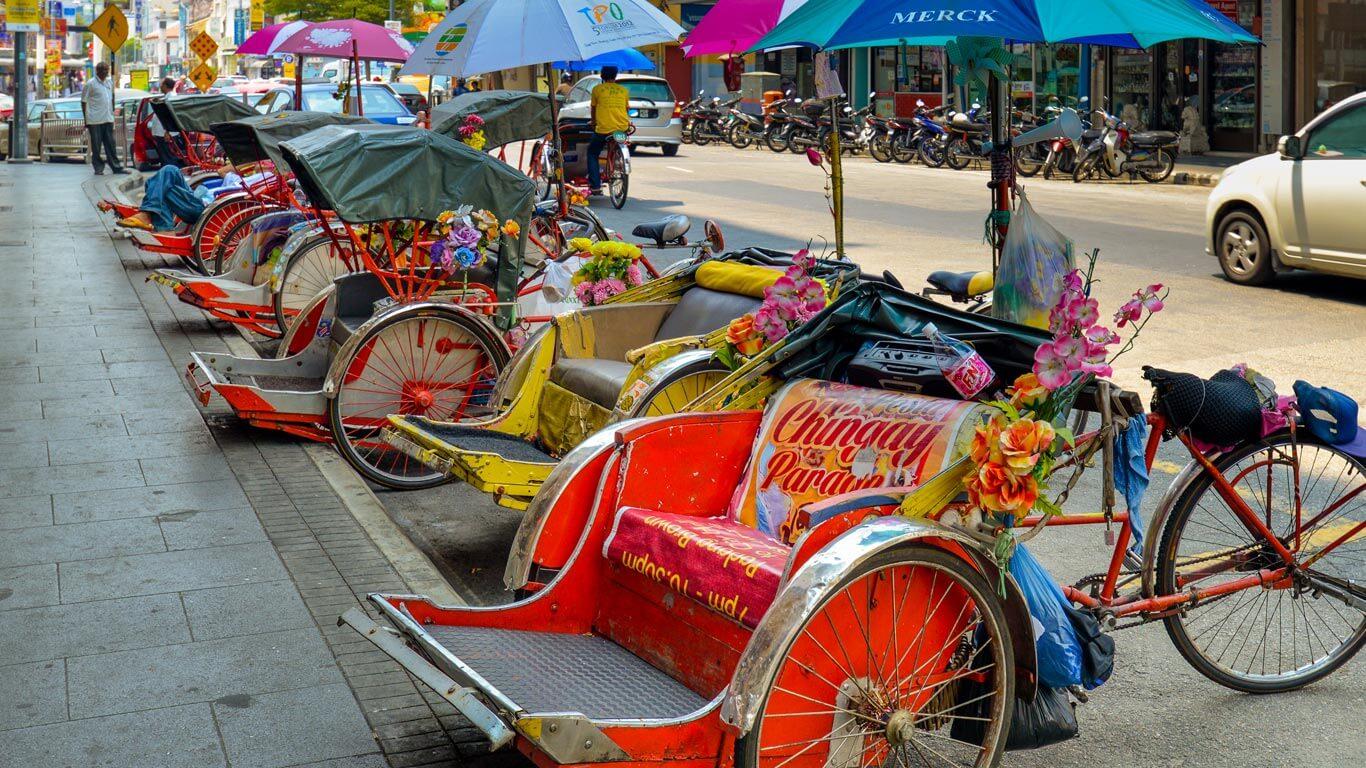 Malaysia Traditional Trishaw